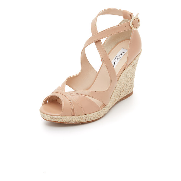 L.K. BENNETT Maggie wedges - A braided jute trimmed platform lends natural appeal to...