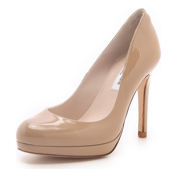 L.K. BENNETT Sledge patent platform pumps - With a ladylike silhouette and a glossy finish, these L.K.