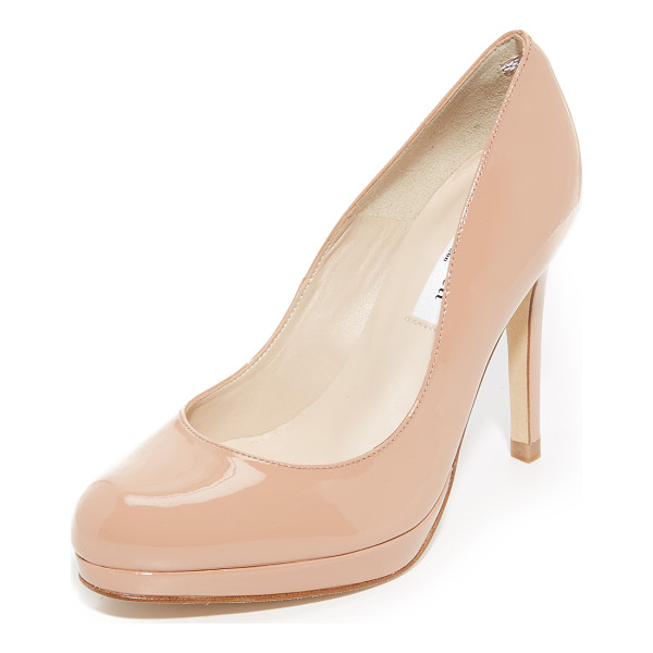 L.K. BENNETT sledge patent pumps - Patent leather brings a ladylike look to these L.K. Bennett