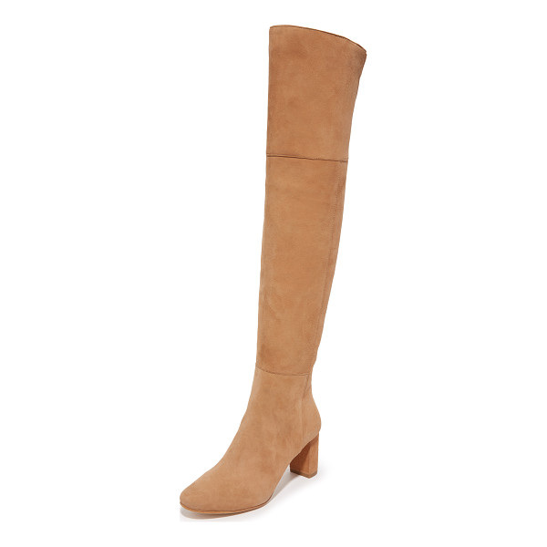 LOEFFLER RANDALL brett over the knee boots - A chunky heel lends sturdy lift to these sexy, over the