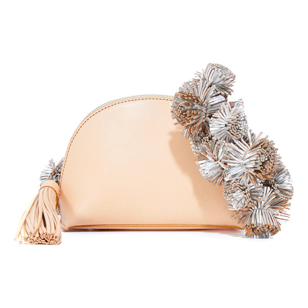 LOEFFLER RANDALL cross body pouch - Dense clusters of metallic-leather tassels accent the
