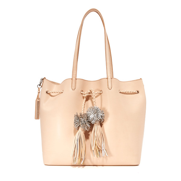 LOEFFLER RANDALL drawstring tote - A large Loeffler Randall tote in smooth leather. Metallic...