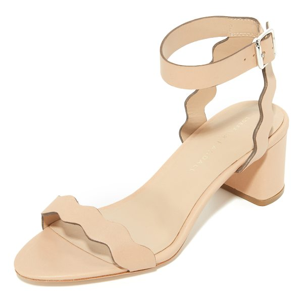 LOEFFLER RANDALL emi city sandals - Scalloped straps compose these smooth leather Loeffler...