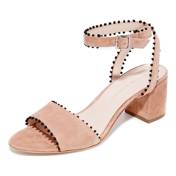 LOEFFLER RANDALL eryn city sandals - Contrast seed-bead trim adds a bohemian touch to these