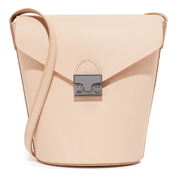 LOEFFLER RANDALL Flap bucket bag - A structured Loeffler Randall bucket bag in smooth leather....