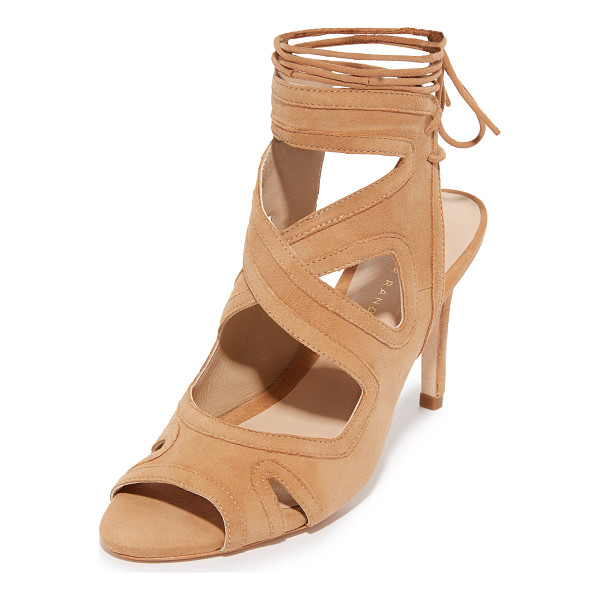 LOEFFLER RANDALL Leila Gladiator Sandals - Tonal trim traces the crisscross straps and cutouts on...
