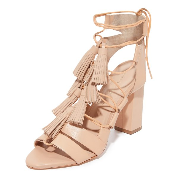 LOEFFLER RANDALL luz tassel sandals - Tiered tassels accent the slender laces on these strappy...
