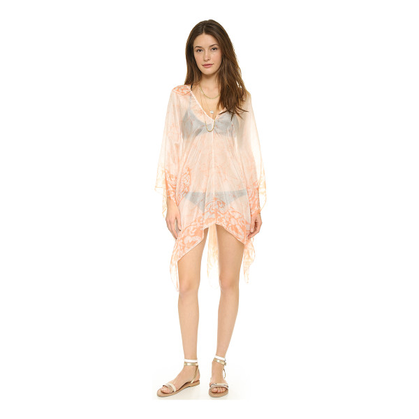 LOTTA STENSSON Batik petite poncho - A feather light Lotta Stensson cover up in fine silk,...