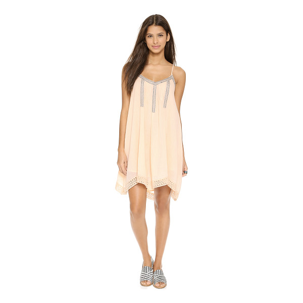 LOVE SAM Bliss lace trimmed dress - Delicate pintucks and shiny contrast stitching lend sweet...