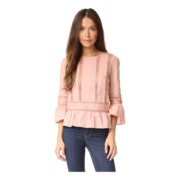 LOVE SAM floral threadwork top - A woven Love Sam blouse, detailed with tonal embroidery and...