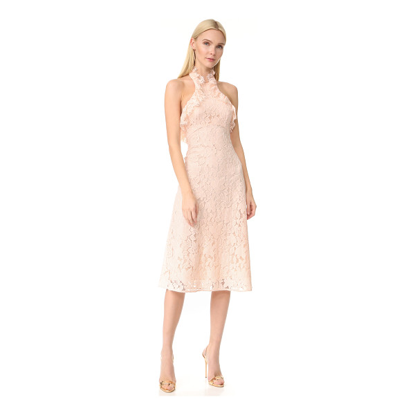 LOVER affinity ruffle halter dress - A lace Lover dress in a swingy fit-and-flare silhouette....