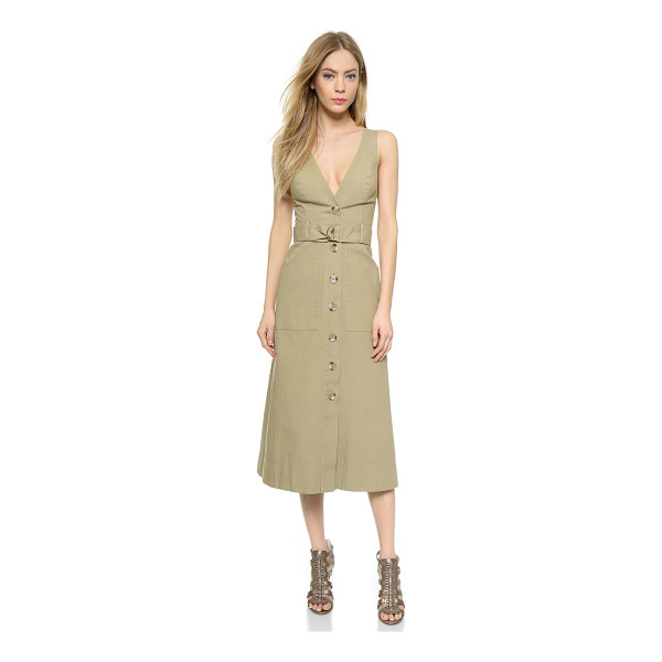 LOVER Hunter trench dress - A mid length Lover dress with trench coat inspired styling....
