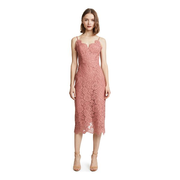 LOVER ingenue slip dress - This tailored Lover midi dress is composed of guipure lace...