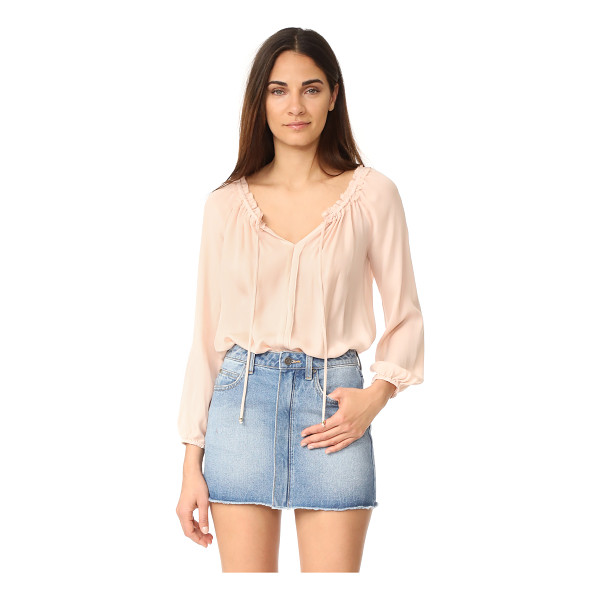 LOVESHACKFANCY michelle blouse - This feather-light LOVESHACKFANCY off-shoulder blouse is...