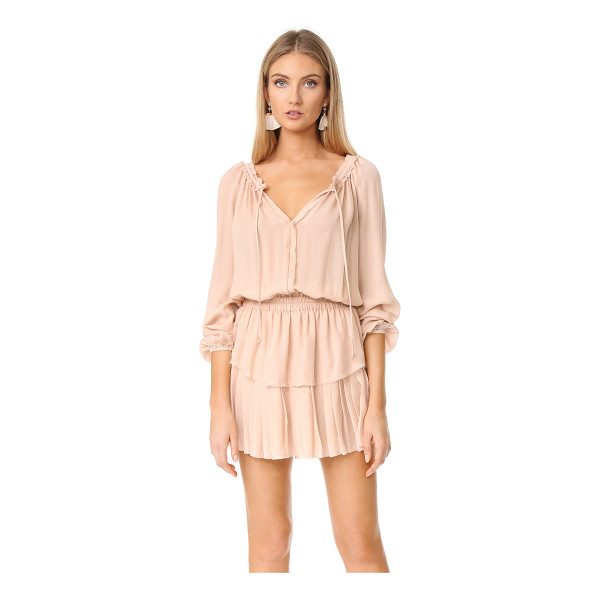 LOVESHACKFANCY popover dress - Raw, gentry frayed edges lend a deconstructed feel to this...