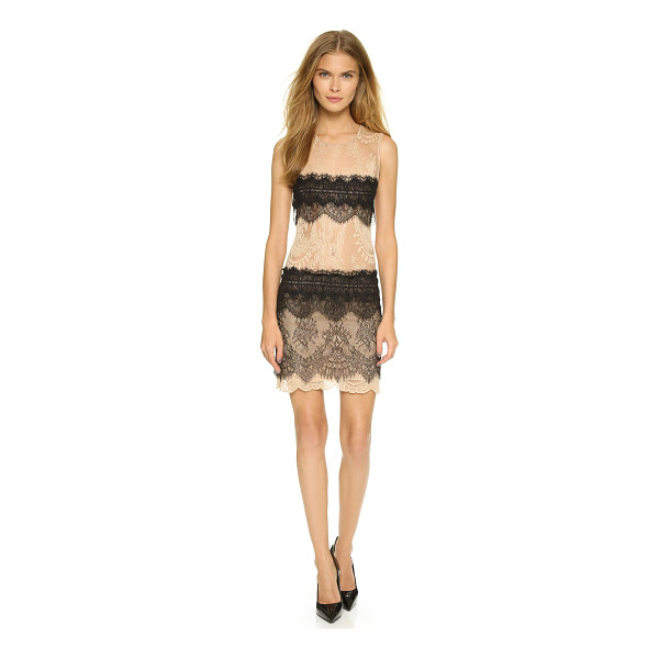 LOYD/FORD Sleeveless lace dress - Bright, scalloped stripes trim this delicate lace Loyd/Ford...