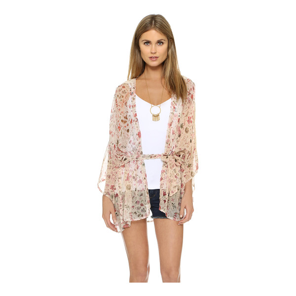 L*SPACE Liberty cover up - A rich floral print lends a luxe feel to this chiffon...