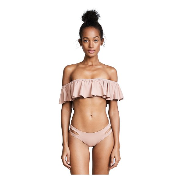 L*SPACE l*space hey girl bikini top - A flirty ruffled overlay lends breezy style to this L*Space...