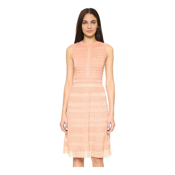 M MISSONI Rivet stitch dress - A contoured M Missoni sweater with knit stripes and...