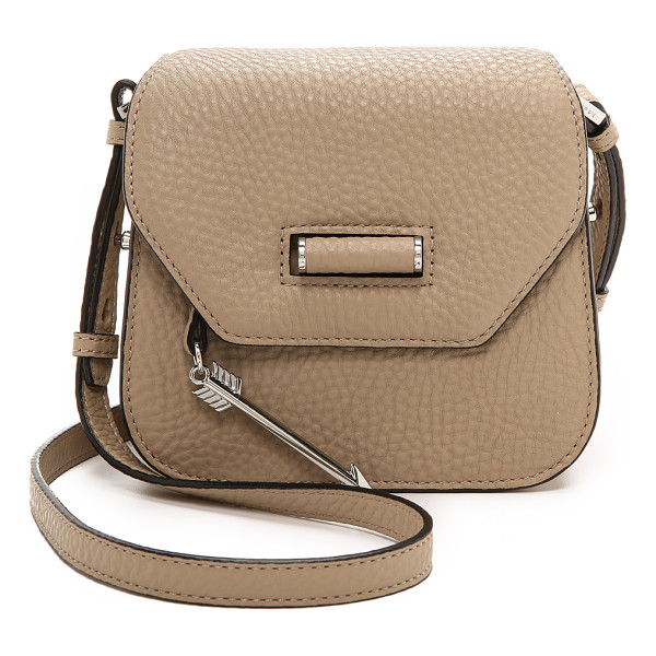 MACKAGE Novaki cross body bag - A petite Mackage cross body bag in textured leather with
