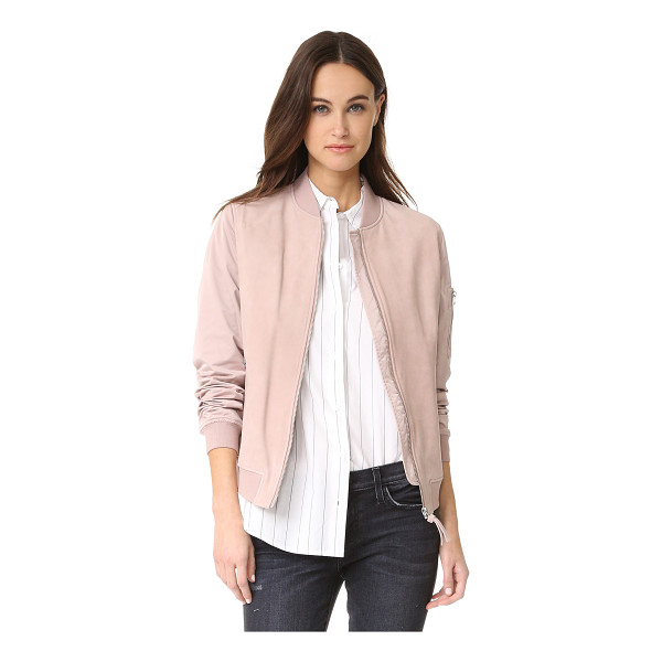 MACKAGE vimka bomber jacket - This Mackage bomber jacket is crafted with a tonal suede...