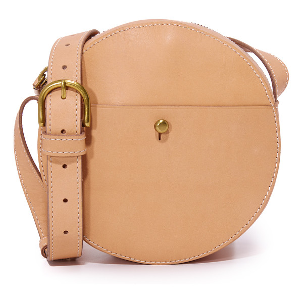 MADEWELL circle cross body bag - A smooth leather Madewell bag with a circular silhouette. A...