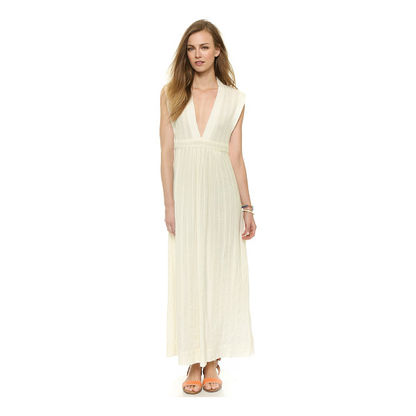 MADEWELL Dominica cover up maxi dress - Patterned stripes bring subtle texture to a relaxed...