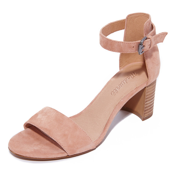 MADEWELL lainy ankle strap city heels - Simple suede Madewell sandals, styled with a buckle closure