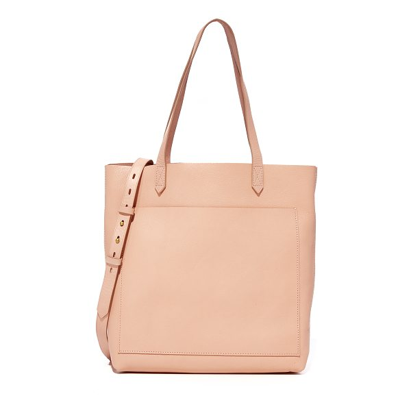 MADEWELL the medium transport tote - A simple Madewell tote in rich leather. Unlined, 1-pocket...