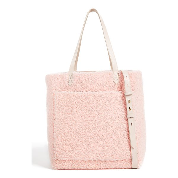 MADEWELL medium transport tote in shearling - This simple Madewell tote is crafted in plush shearling....