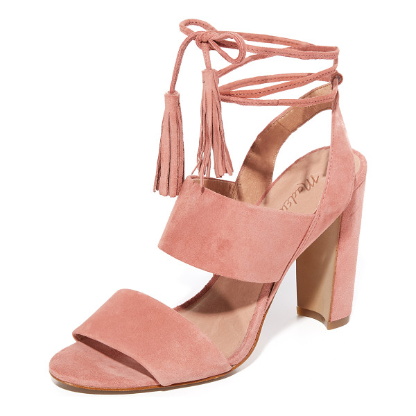 MADEWELL octavia tassel sandals - Suede Madewell sandals with slim tasseled ties at the