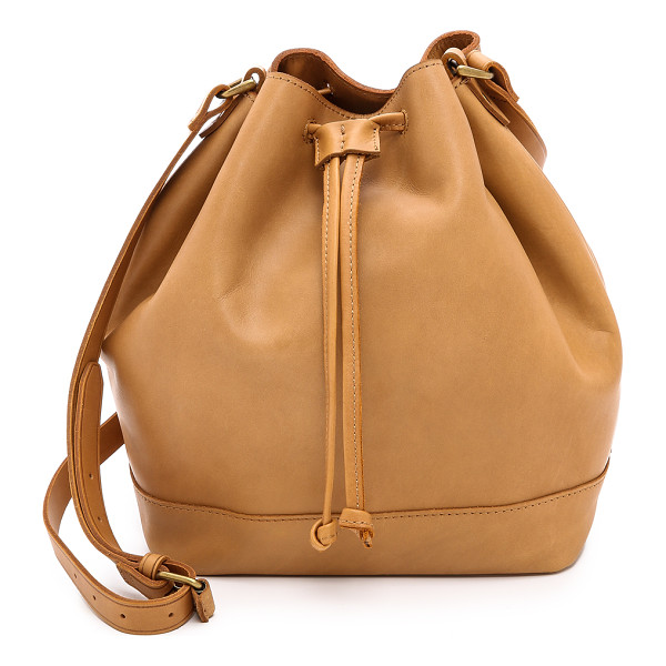 MADEWELL Small bucket bag - A slouchy Madewell bucket bag in rich leather. A drawstring