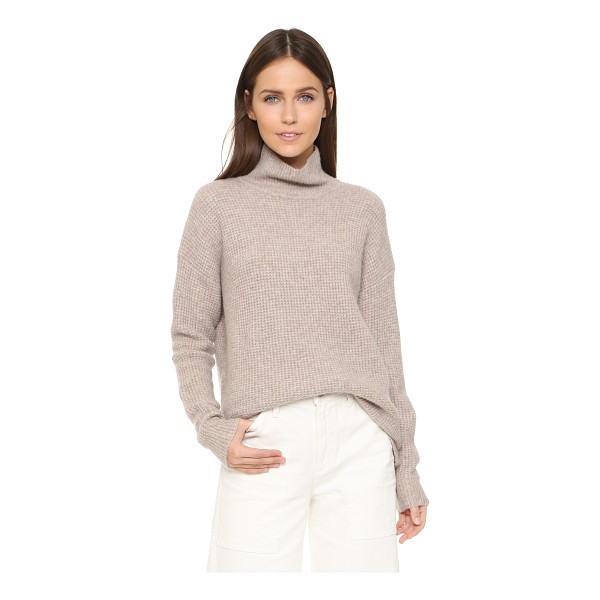 MADEWELL Solid aria turtleneck - A waffle knit Madewell sweater with a cozy ribbed...