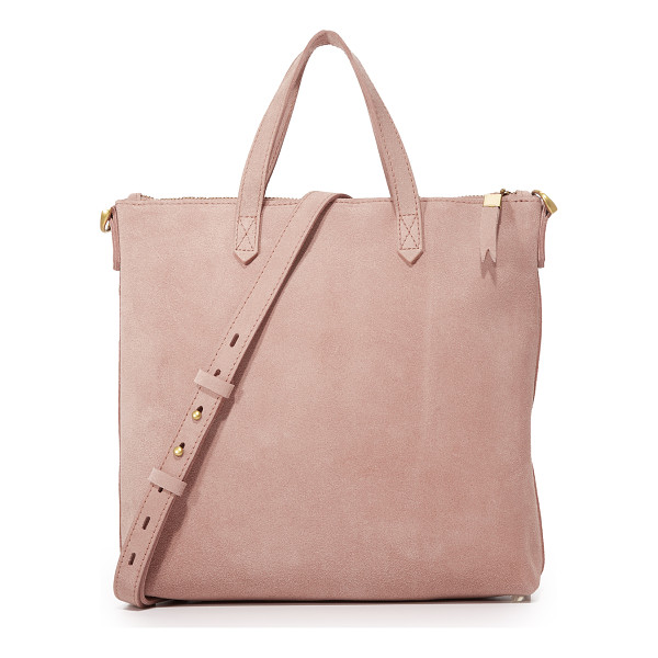 MADEWELL suede mini transport tote - A suede Madewell handbag in a timeless, mid-sized profile....