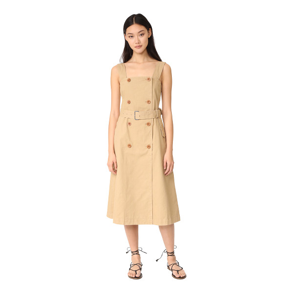 MADEWELL trench dress - A pinafore-style Madewell dress imitates a trench coat with...