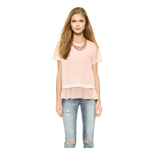 MADISON MARCUS Delilah layered tee - A sheer georgette ruffle gives this Madison Marcus blouse a...