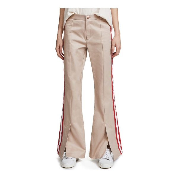 MAGGIE MARILYN game changer pants - Fabric: Twill Striped grosgrain trim Split cuffs Flare...