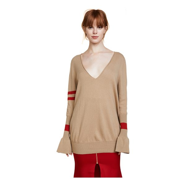 MAGGIE MARILYN hold your own boyfriend sweater - This lightweight wool Maggie Marilyn sweater has a rolled V...