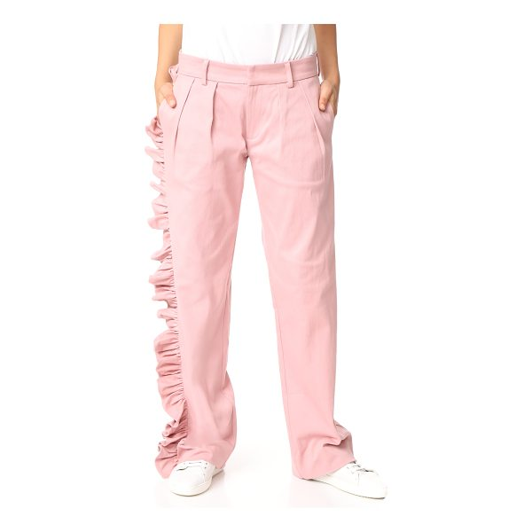 MAGGIE MARILYN i'll stand beside you pants - NOTE: Sizes listed are UK. A gathered ruffle flows one side...