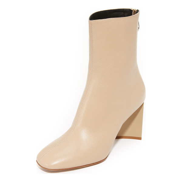 MAISON MARGIELA cutout heel ankle booties - An asymmetrical, acrylic heel adds a bold finish to these...