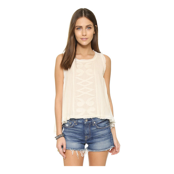 MAISON SCOTCH Embroidered tank - Embroidery complements the bohemian look of this...