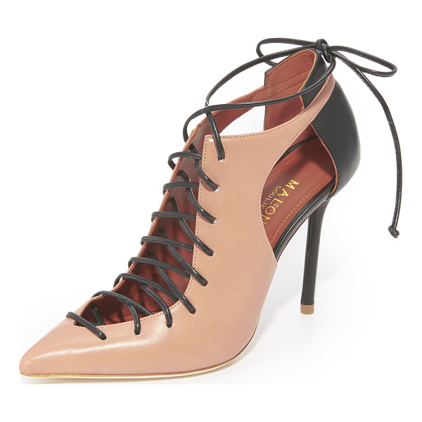 MALONE SOULIERS montana lace up pumps - Two-tone Malone Souliers pumps styled with cutouts at the