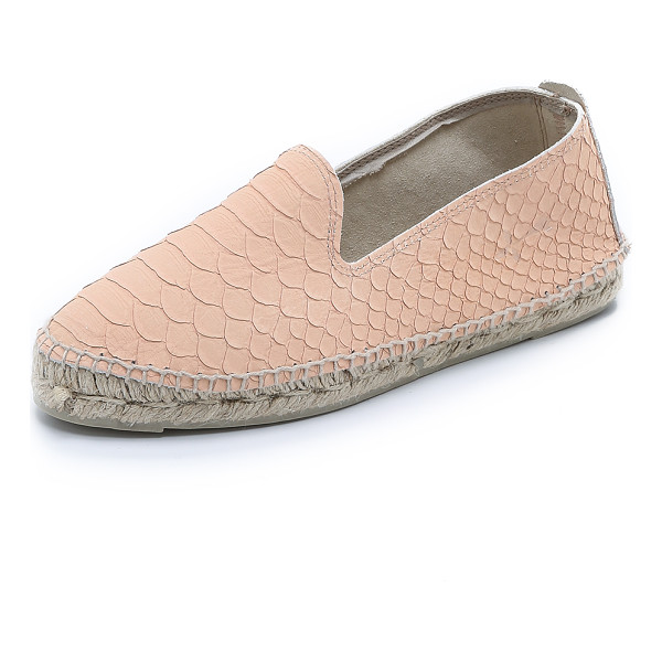MANEBI Amazonia esapdrilles - Manebi espadrilles cut from embossed leather give a classic