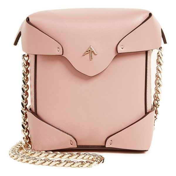 MANU ATELIER micro pristine box bag - A boxy MANU Atelier bag in smooth leather. The magnetic top...