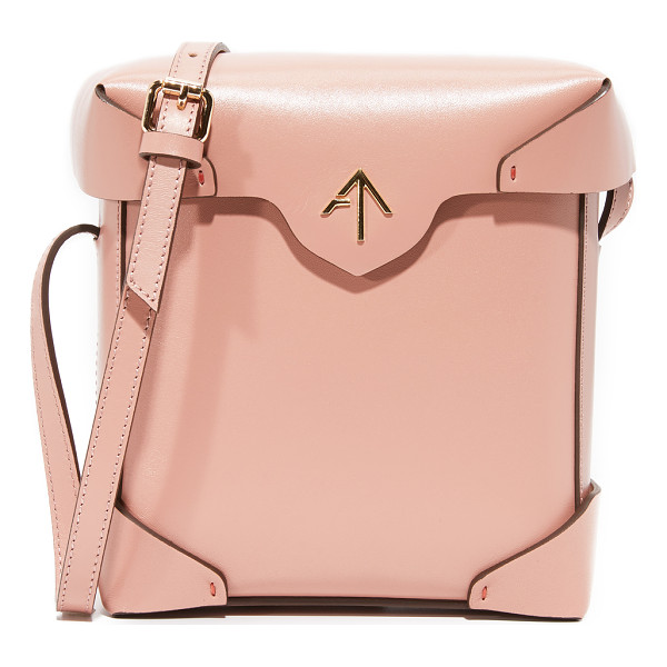 MANU ATELIER mini pristine box bag - A boxy MANU Atelier bag in smooth leather. The magnetic top...