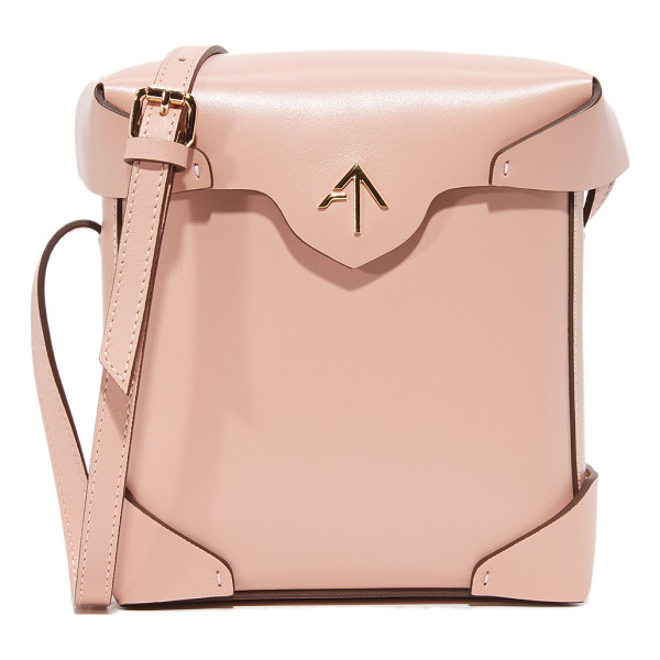 MANU ATELIER mini pristine box bag - A boxy MANU Atelier bag in smooth leather. The magnetic top