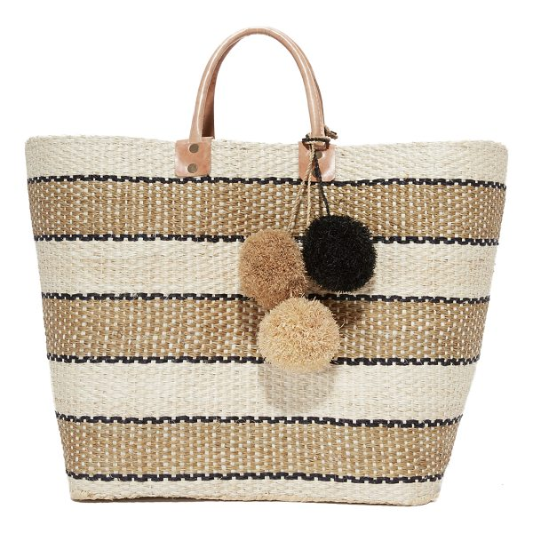 MAR Y SOL capri tote - Two-tone tassels accent this striped straw Mar Y Sol tote....