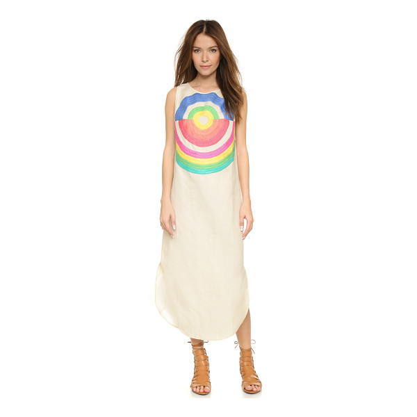 MARA HOFFMAN Embroidered dashiki dress - Concentric embroidery brings artistic edge to this...