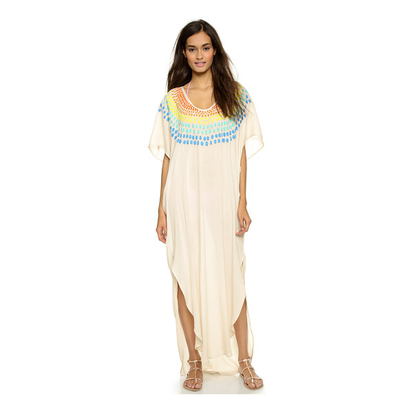 MARA HOFFMAN Embroidered gauze caftan - A relaxed Mara Hoffman caftan cut from crinkled gauze....