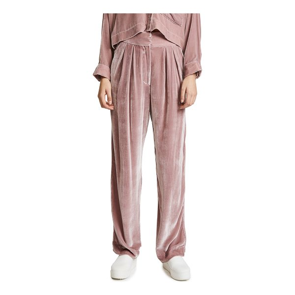 MARA HOFFMAN josephine velvet pants - High-waisted Mara Hoffman pants crafted in pale, plush...